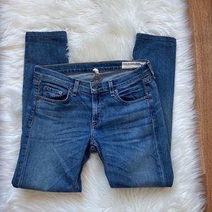 rag & bone blue Mid Rise Skinny Jeans Size 27